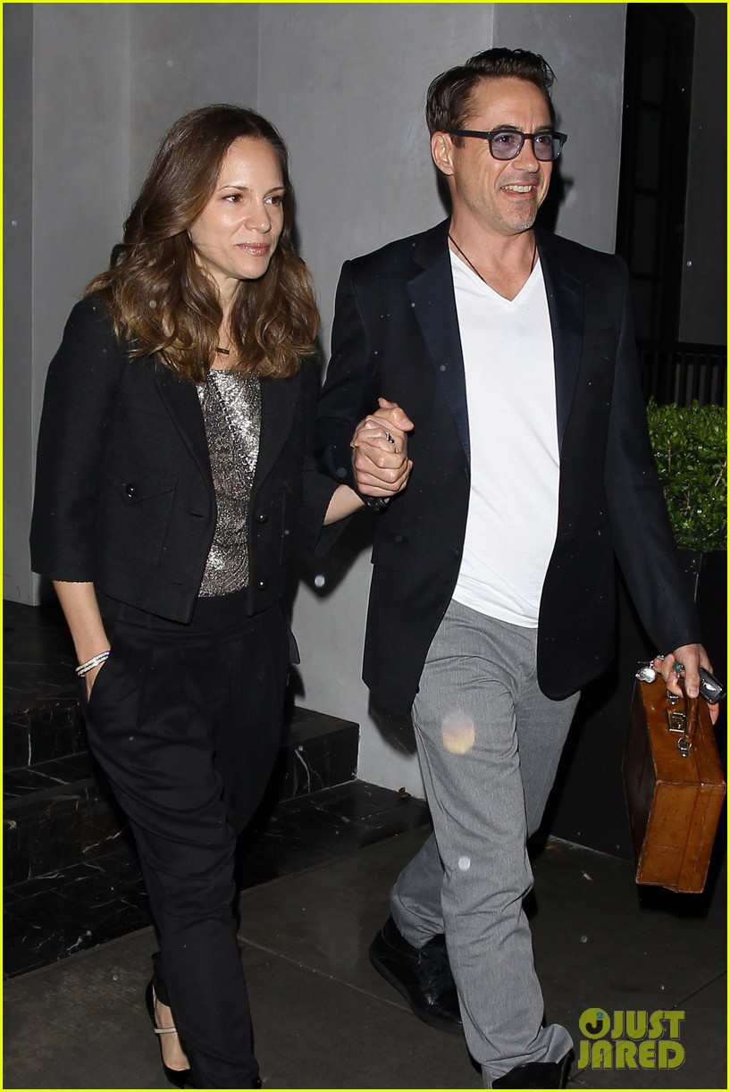 robert downey jr wife susan spago date night 01