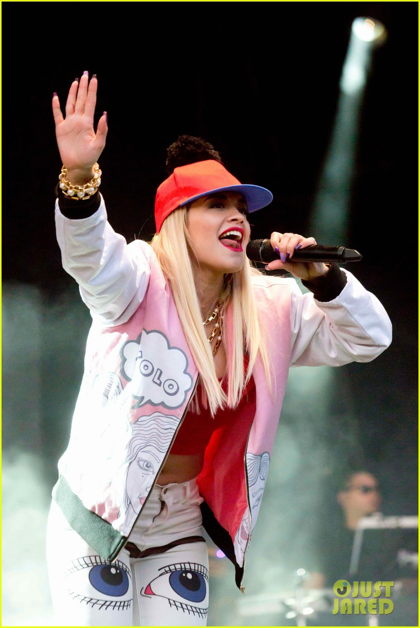 rita ora performs at as one in the park music festival 20