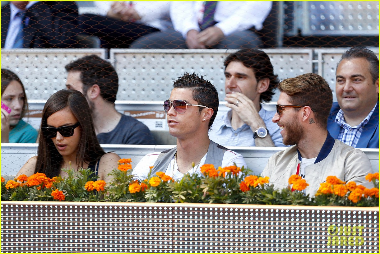cristiano ronaldo irina shayk madrid open game after xti event 18