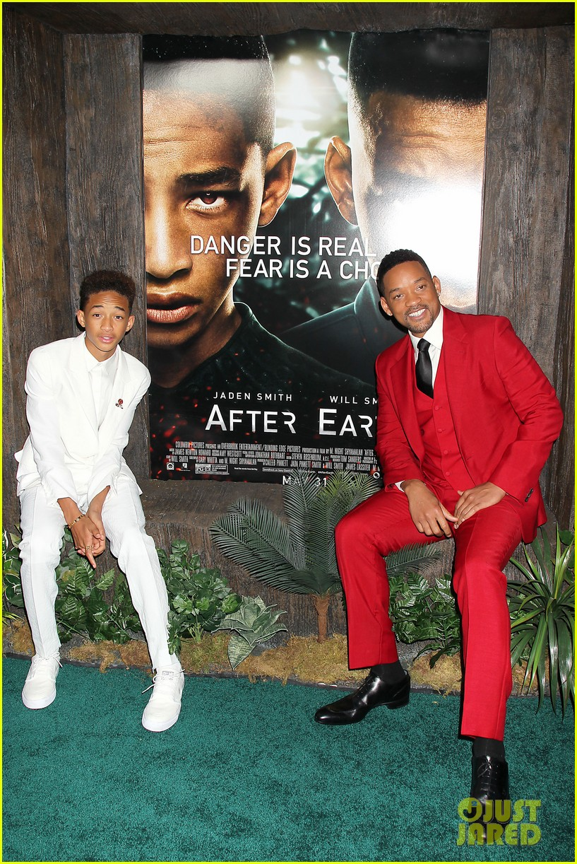 jada will smith after earth premiere with willow jada trey 30