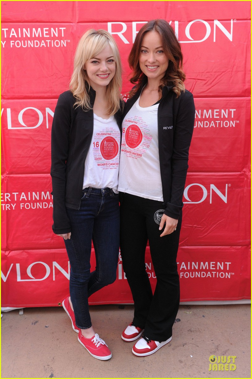 emma stone olivia wilde eif revlon run walk for women hosts 18