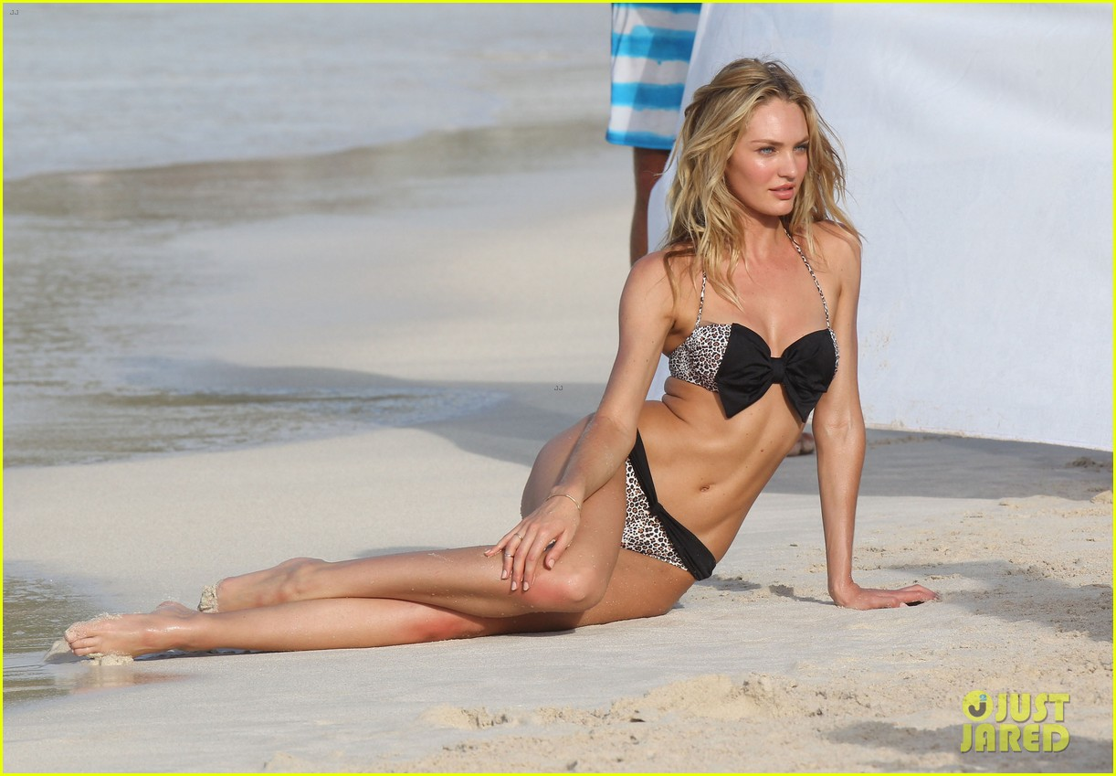 candice swanepoel in bikini photo shoot on the beach 17