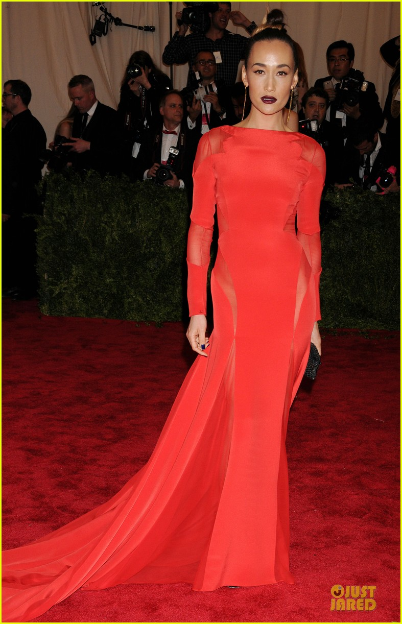 zhang ziyi maggie q met ball 2013 red carpet 052865581
