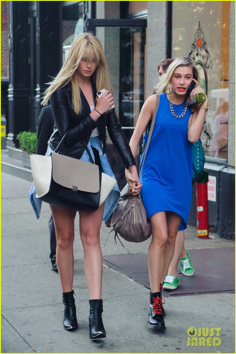 ireland baldwin walks hand in hand with cousin hailey 012885433