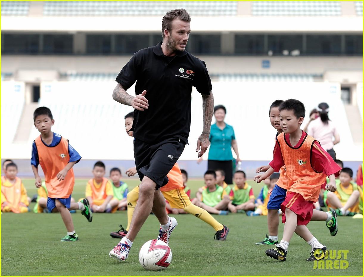 david beckham visits china 012893621