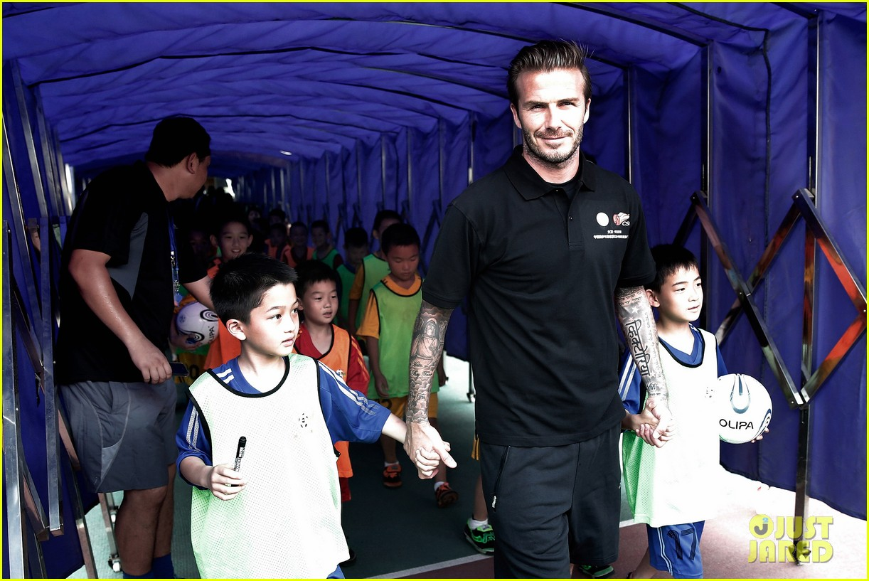 david beckham visits china 22
