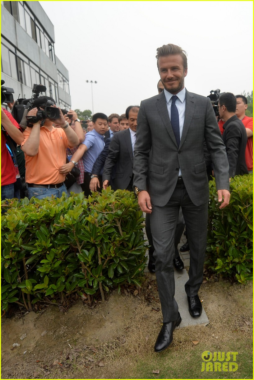 david beckham third day of china visit 01