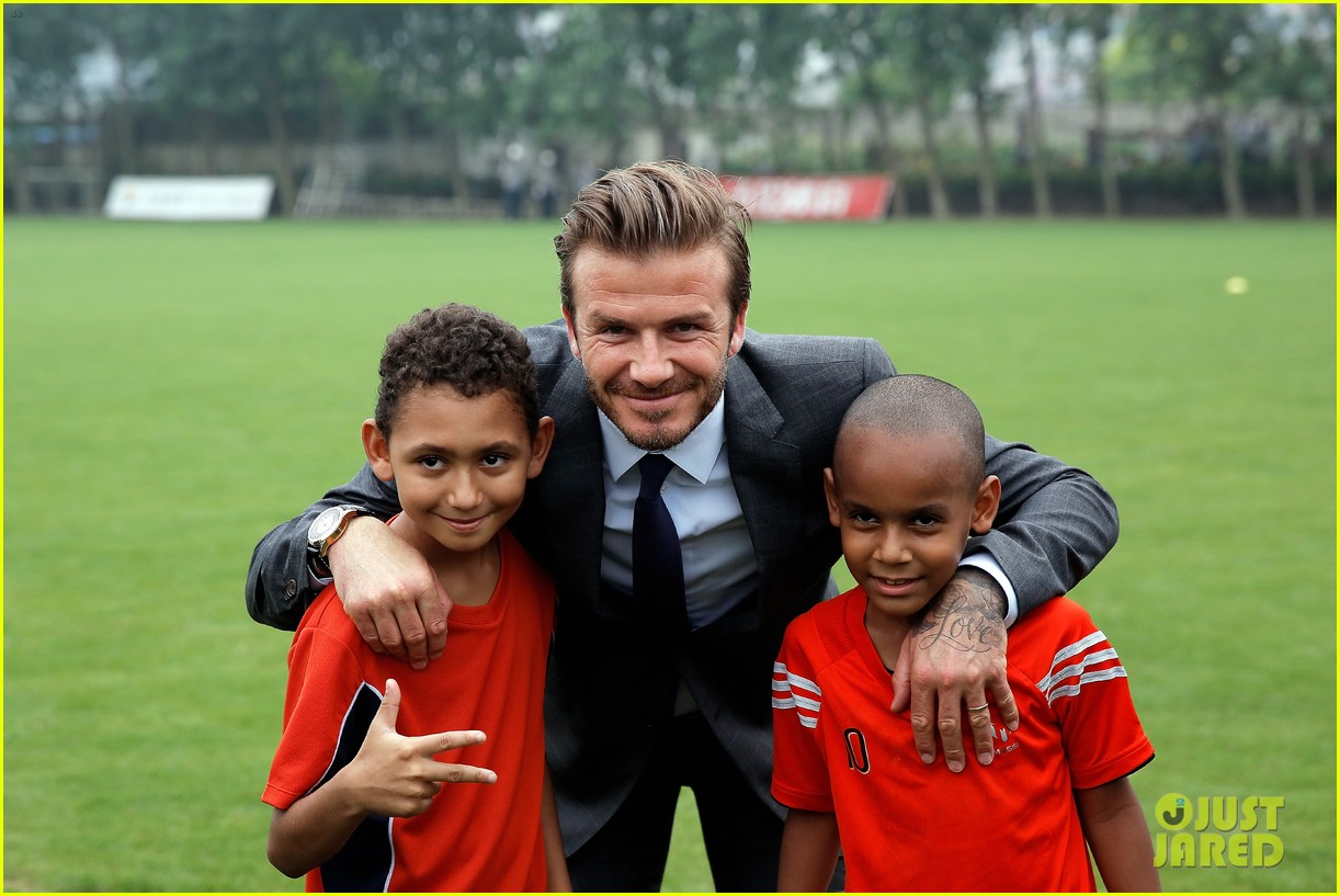 david beckham third day of china visit 03