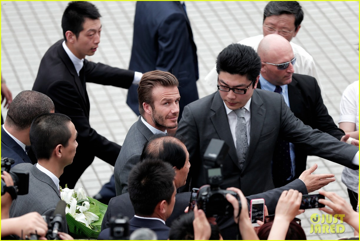 david beckham third day of china visit 16