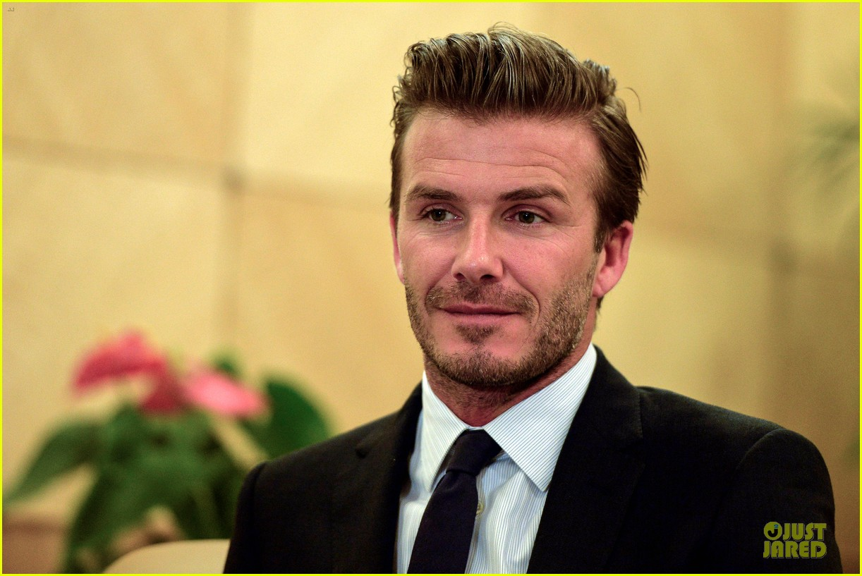 david beckham visits hangzhou greentown club victoria shops 232896336