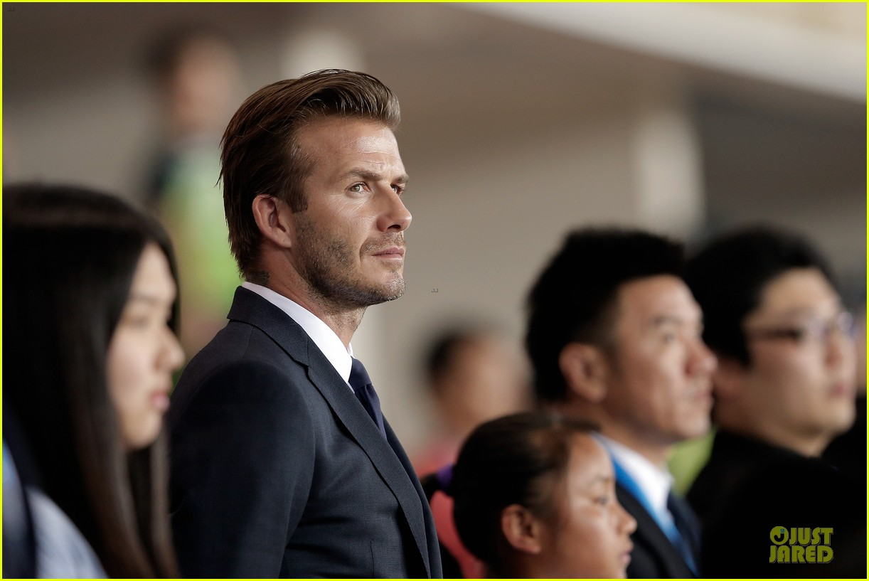 david beckham visits hangzhou greentown club victoria shops 292896342