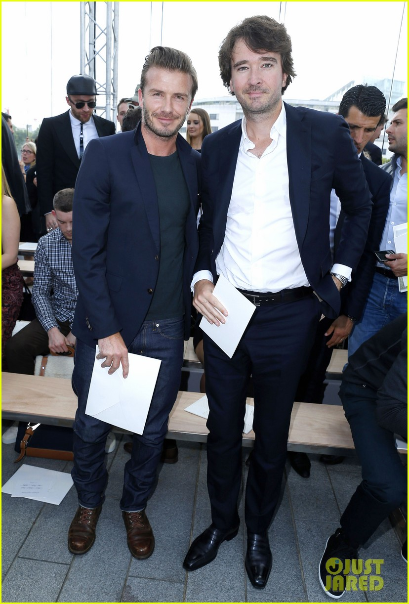 david beckham louis vuitton fashion show with marc jacobs 062899503