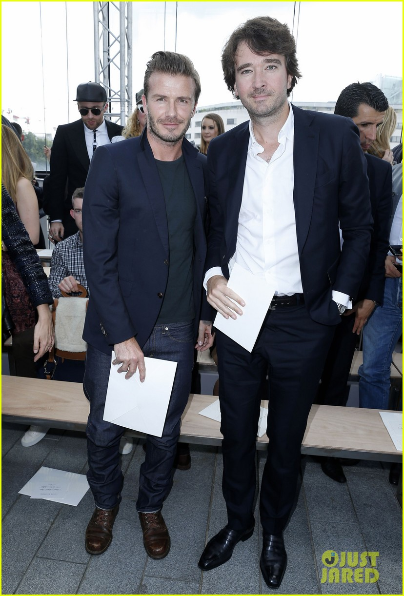 david beckham louis vuitton fashion show with marc jacobs 192899516