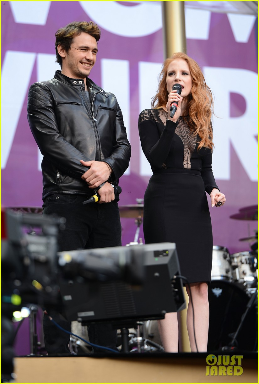 jessica chastain james franco chime for change concert 082882058
