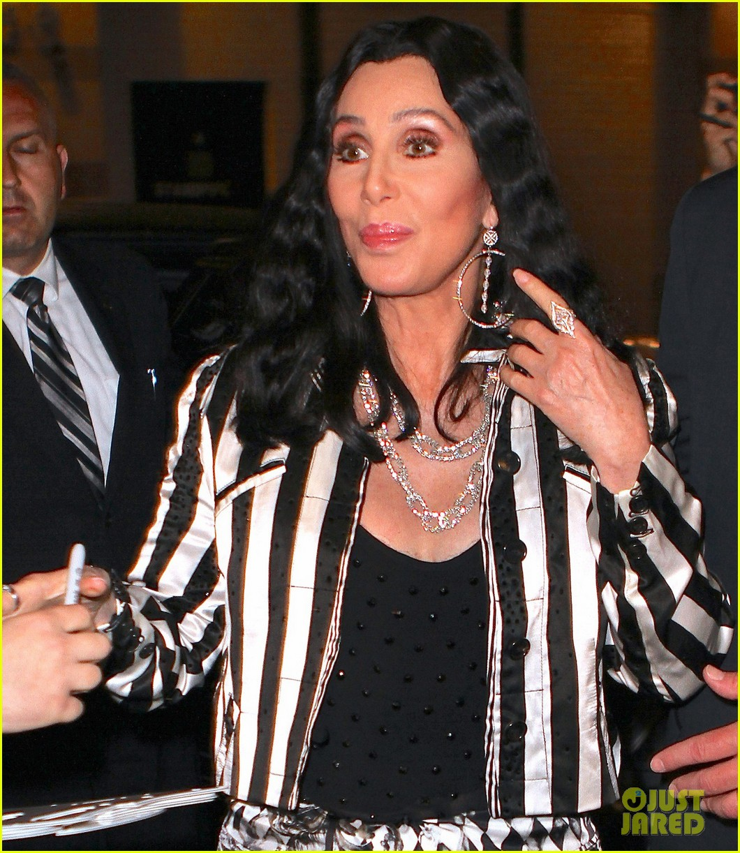 cher promotes womans world in new york city 01