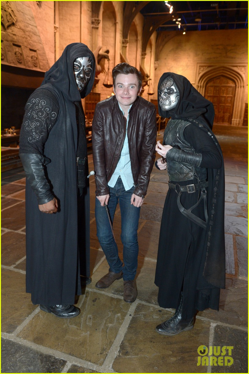 chris colfer harry potter studio tour in london 162895103