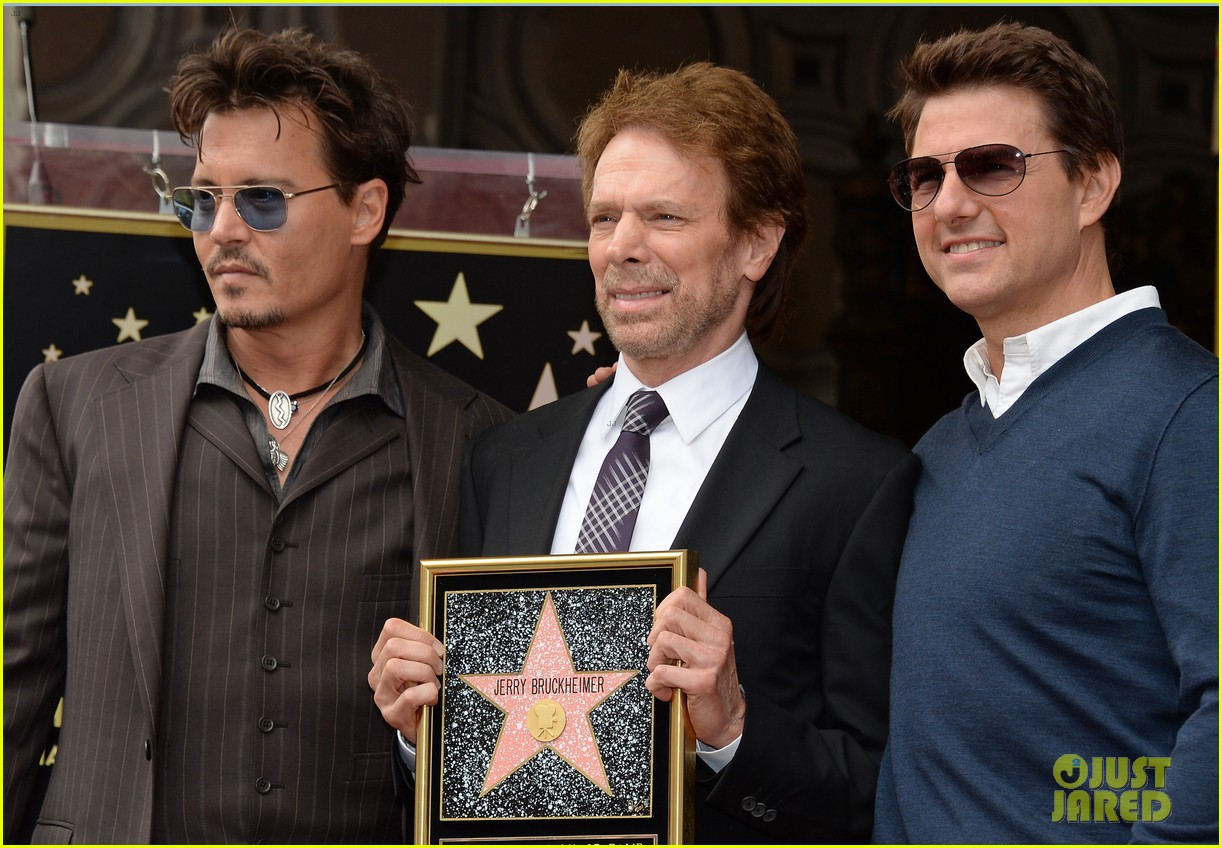 tom cruise johnny depp jerry bruckheimer star ceremony 19