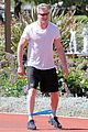 eric dane shirtless workout at coldwater canyon park 11