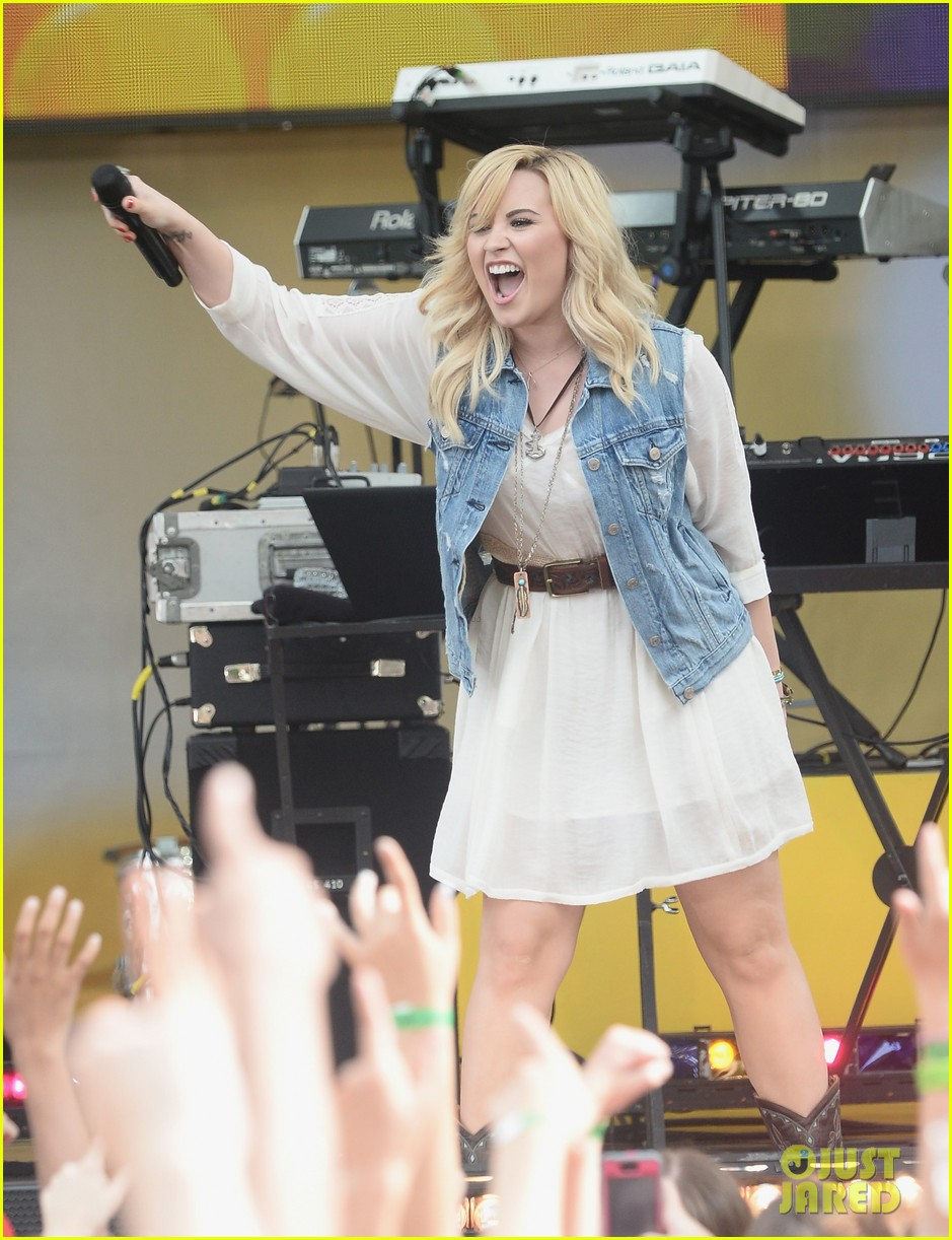 demi lovato good morning america summer concert performer 142899962
