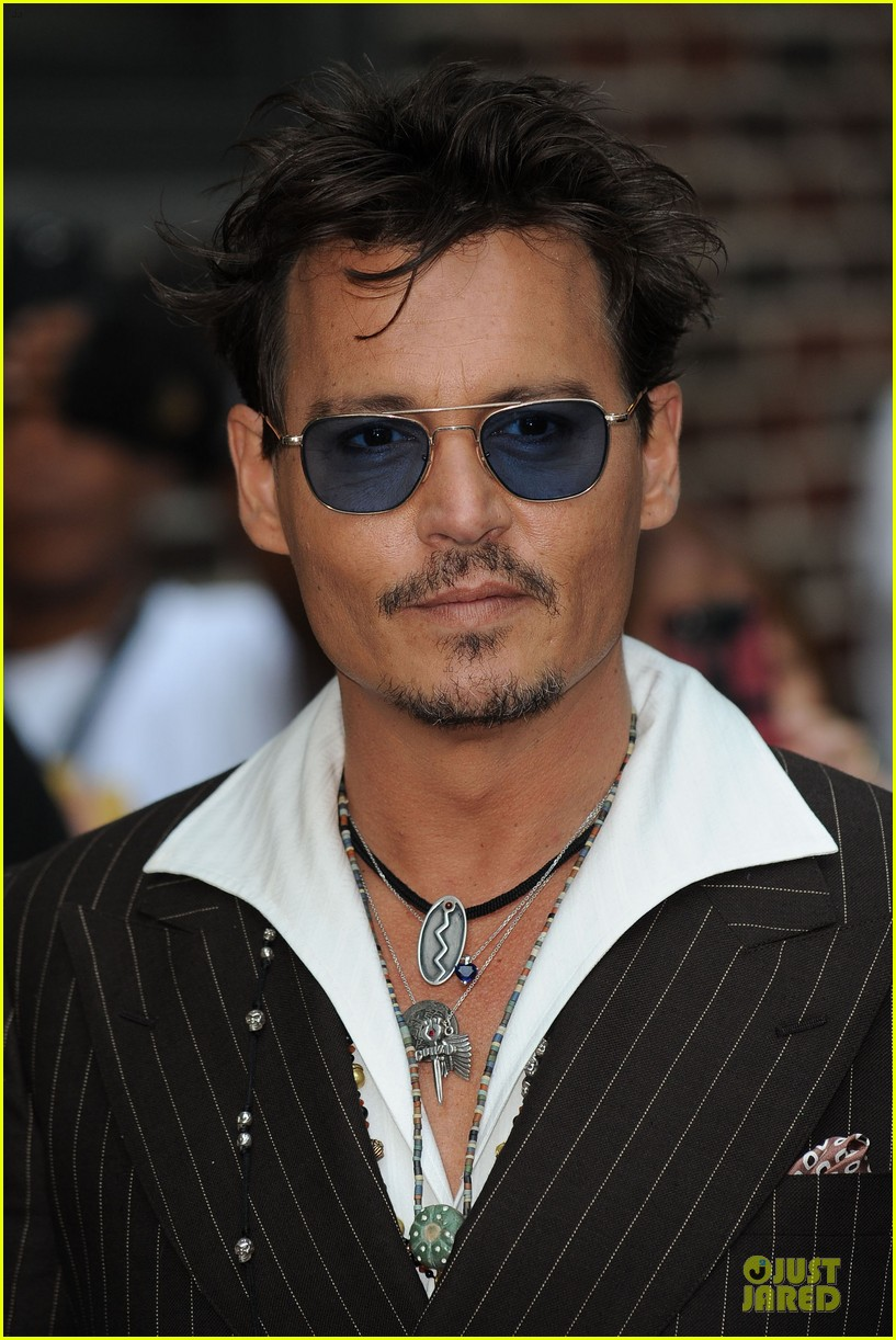 johnny depp lone ranger promotion on letterman 02