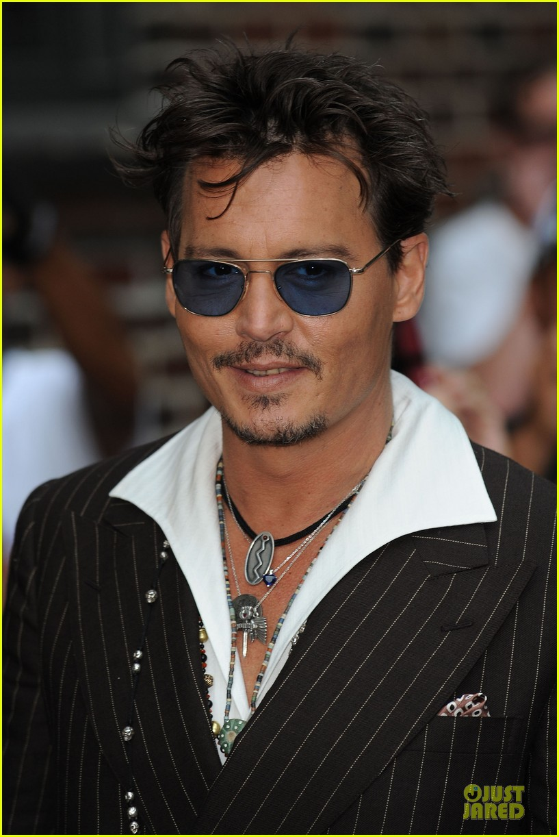 johnny depp lone ranger promotion on letterman 06