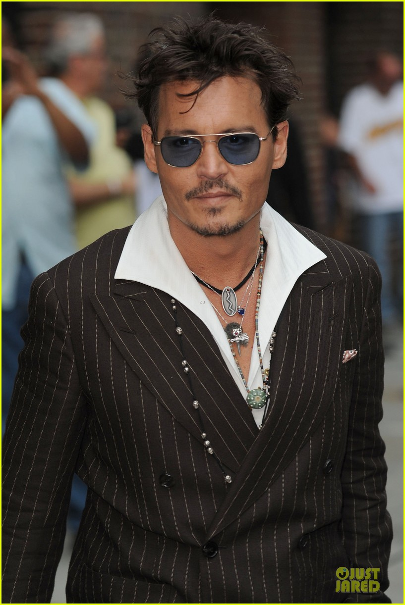 johnny depp lone ranger promotion on letterman 07