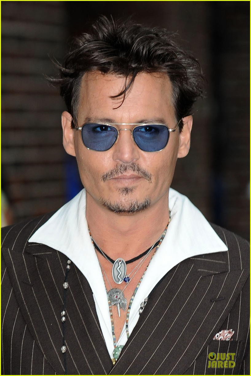 johnny depp lone ranger promotion on letterman 112898526