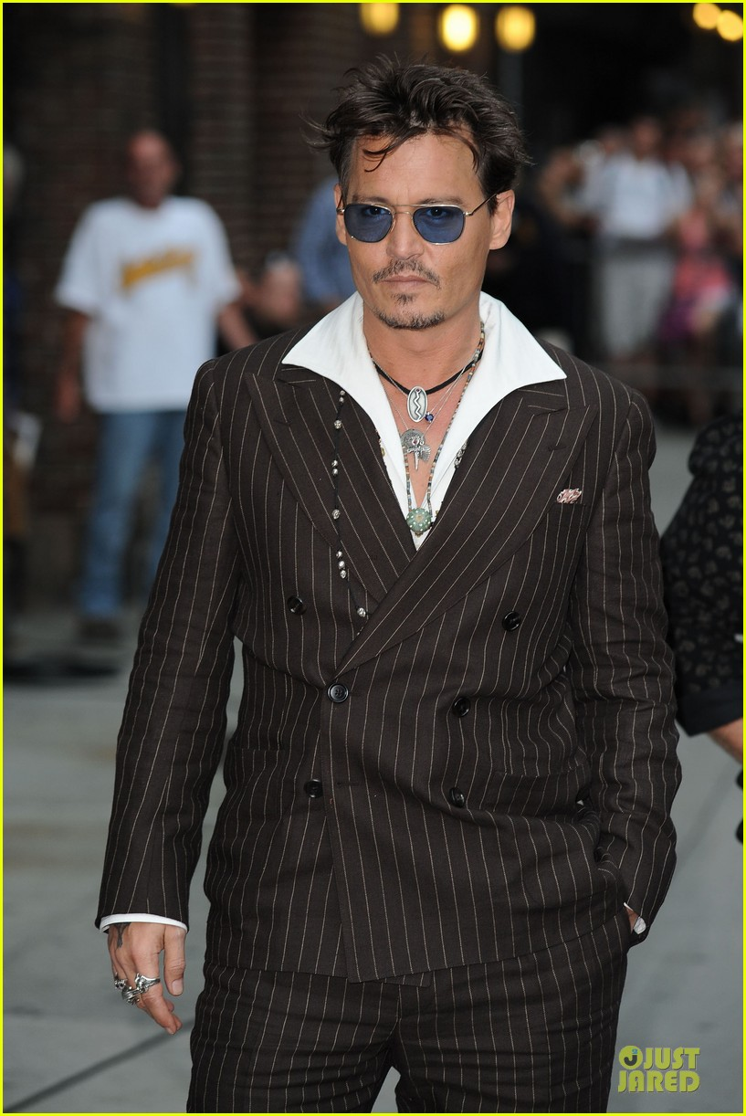 johnny depp lone ranger promotion on letterman 152898530