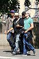 leonardo dicaprio visits famous love locks in paris 05