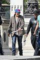 leonardo dicaprio visits famous love locks in paris 07