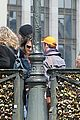 leonardo dicaprio visits famous love locks in paris 15