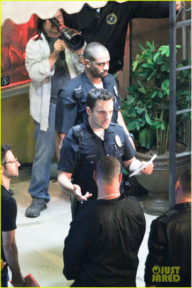 nina dobrev lets be cops set with jake johnson 042887212