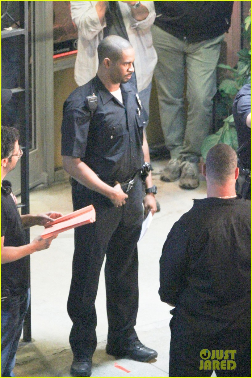 nina dobrev lets be cops set with jake johnson 052887213