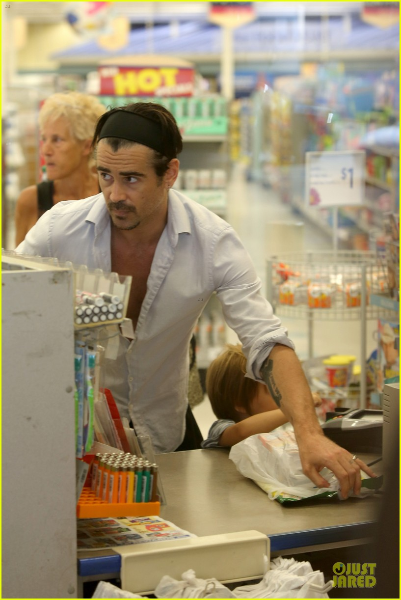 colin farrell rite aid snacks with henry 28