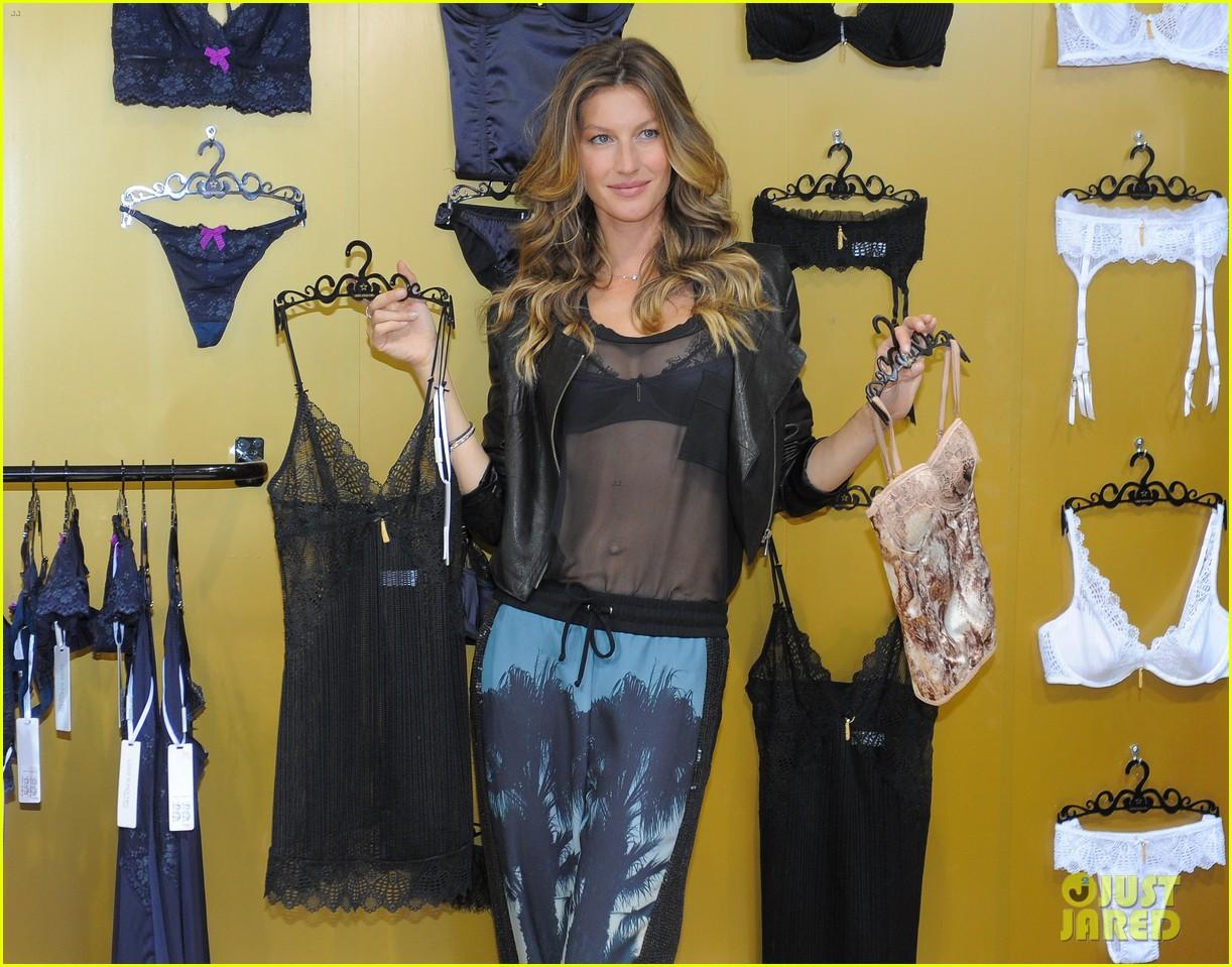 gisele bundchen launches her new lingerie line in brazil 282892487