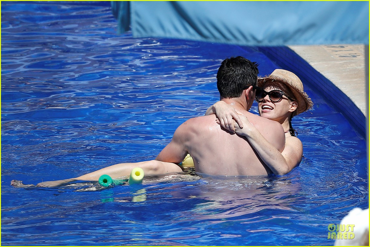 megan hilty cuddling with shirtless brian gallagher in hawaii 08