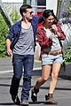 josh hutcherson claudia traisac kiss after motorcycle ride 11