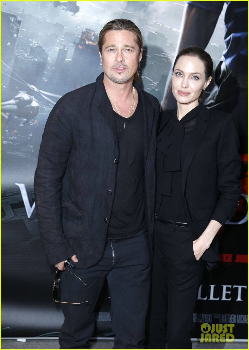 angelina jolie brad pitt world war z paris premiere 02