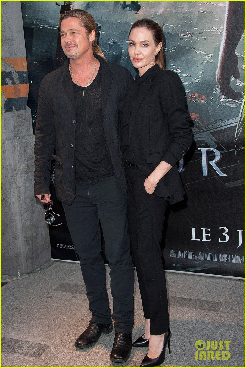 angelina jolie brad pitt world war z paris premiere 18