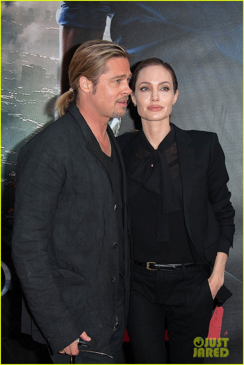 angelina jolie brad pitt world war z paris premiere 212883662