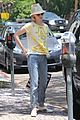 january jones hides new haircut under hat 03