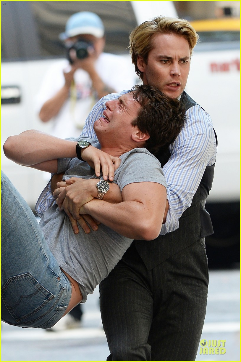 taylor kitsch carries a crying man for normal heart 02