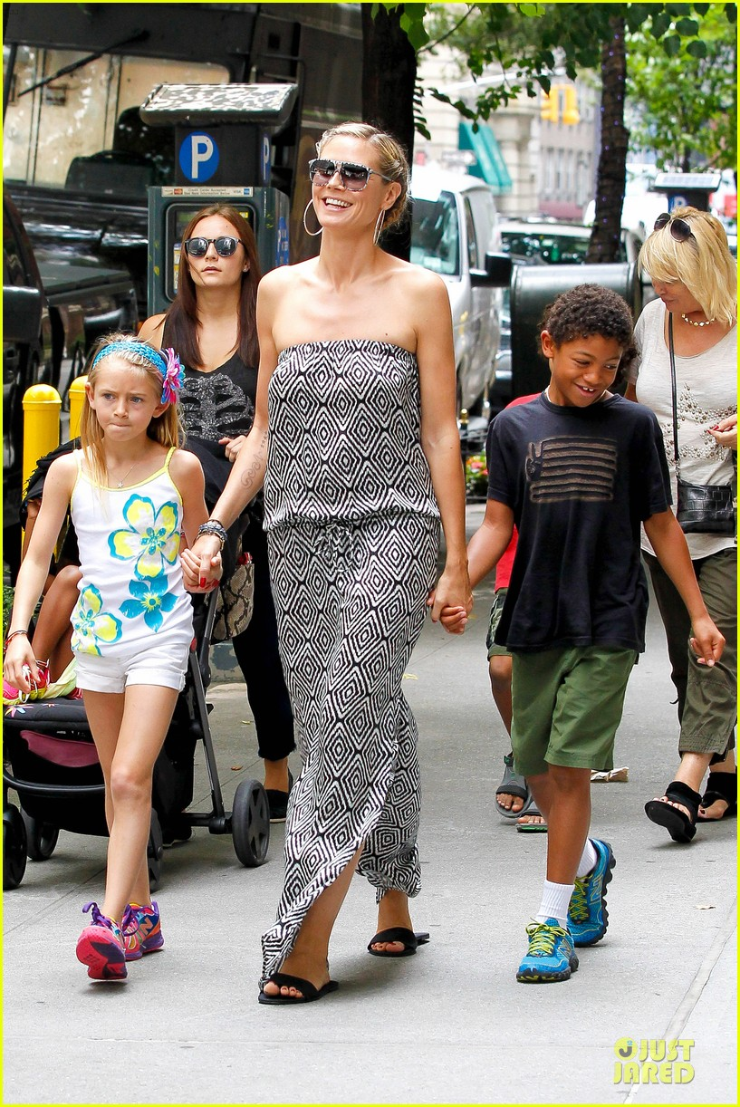 heidi klum i saved my kids hair for art projects 03