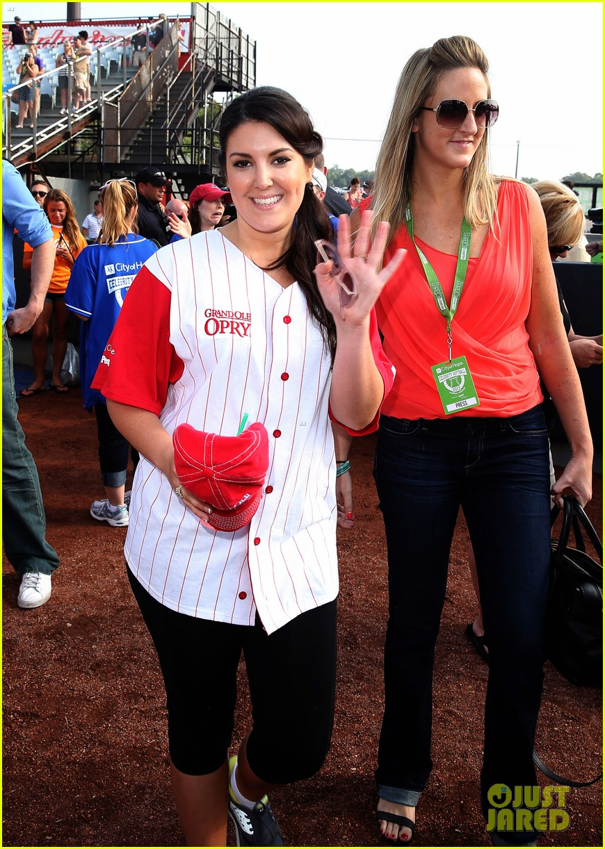 kree harrison lauren alaina celebrity softball with scotty mccreery 082887625