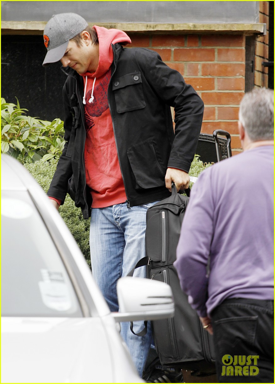 ashton kutcher heads to heathrow for flight out of london 08