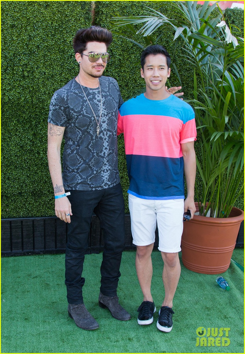 adam lambert hammer time at just jared summer kick off party presented by mcdonalds 06