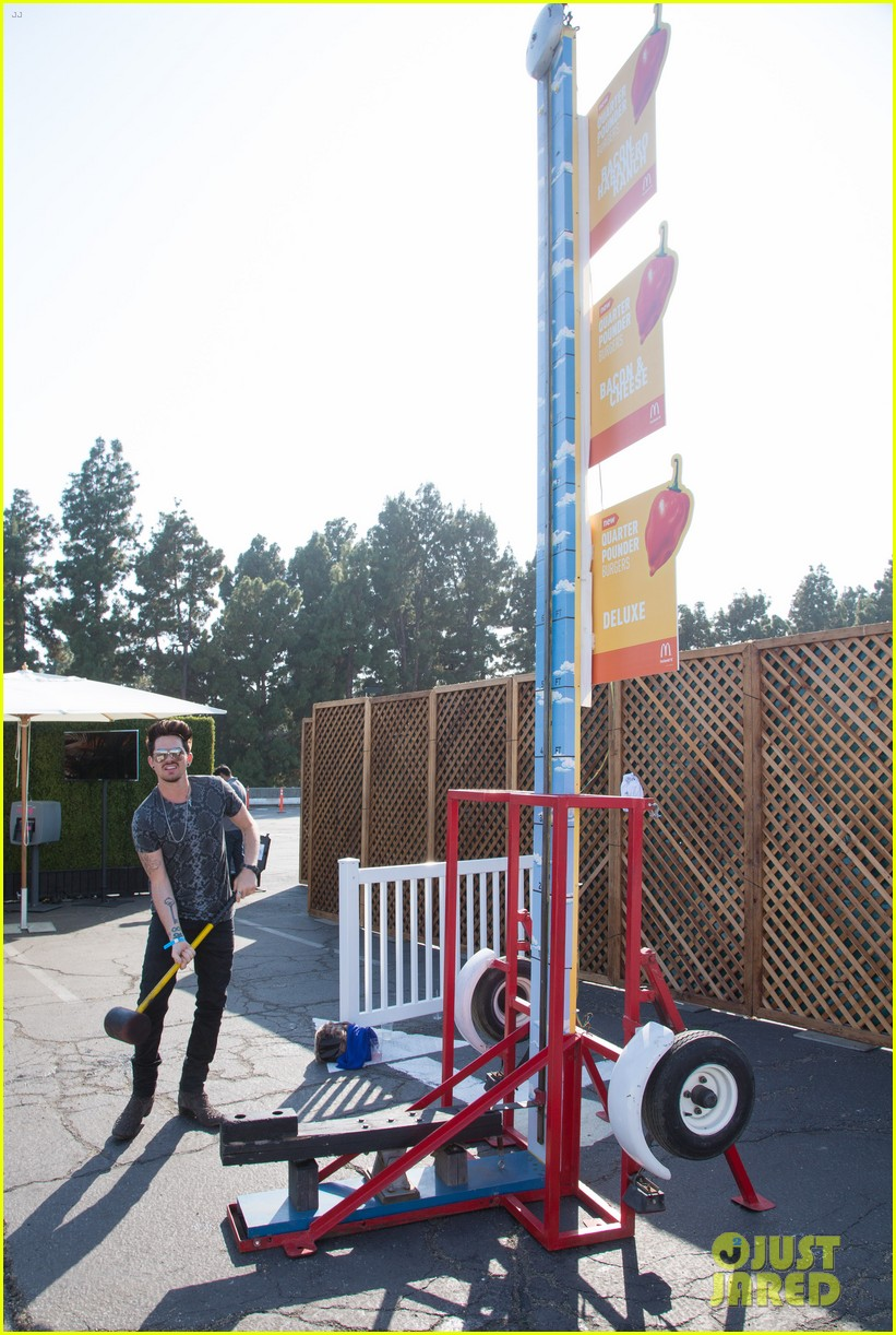 adam lambert hammer time at just jared summer kick off party presented by mcdonalds 112883189