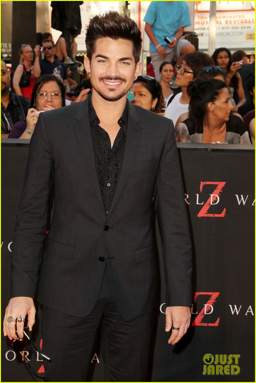 adam lambert world war z nyc premiere 09