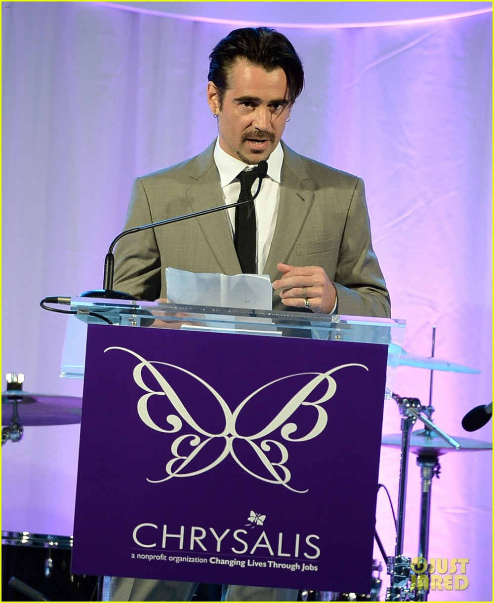 max greenfield colin farrell chrysalis butterfly ball 2013 with chris pine 032887572