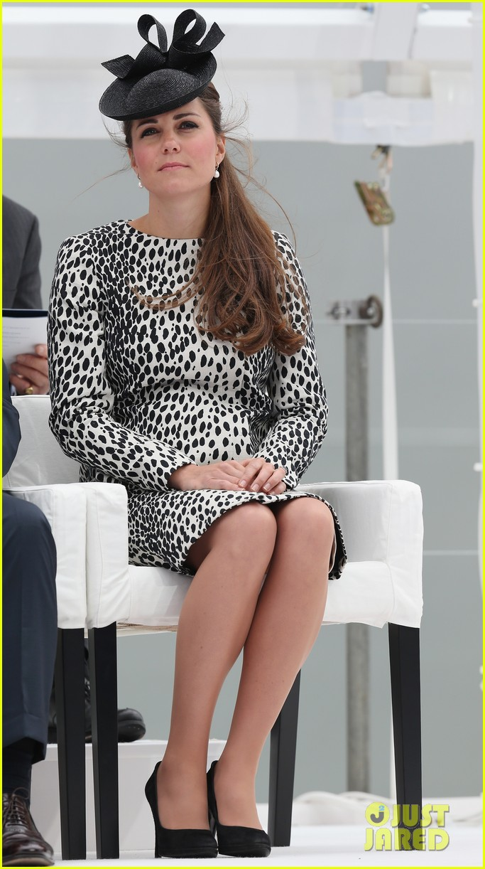 pregnant kate middleton baby bump at first ship christening 21